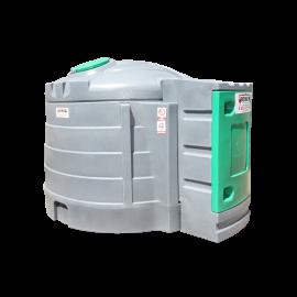 Station fuel verticale double paroi PEHD 5000 litres avec enrouleur 8m