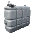 """Beiser Environnement - Station citerne fuel double paroi en plastique PEHD sans odeur, 2000 litres, pompe 12V avec limiteur de remplissage 2"""""""