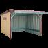 Beiser Environnement - Abri en kit bardé 12 x 6 m - Vue d'ensemble