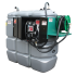 """Beiser Environnement - Station citerne fuel double paroi en plastique PEHD sans odeur 1500 L sécurisée, modèle confort + avec limiteur de remplissage 2"""" - Vue d'ensemble"""